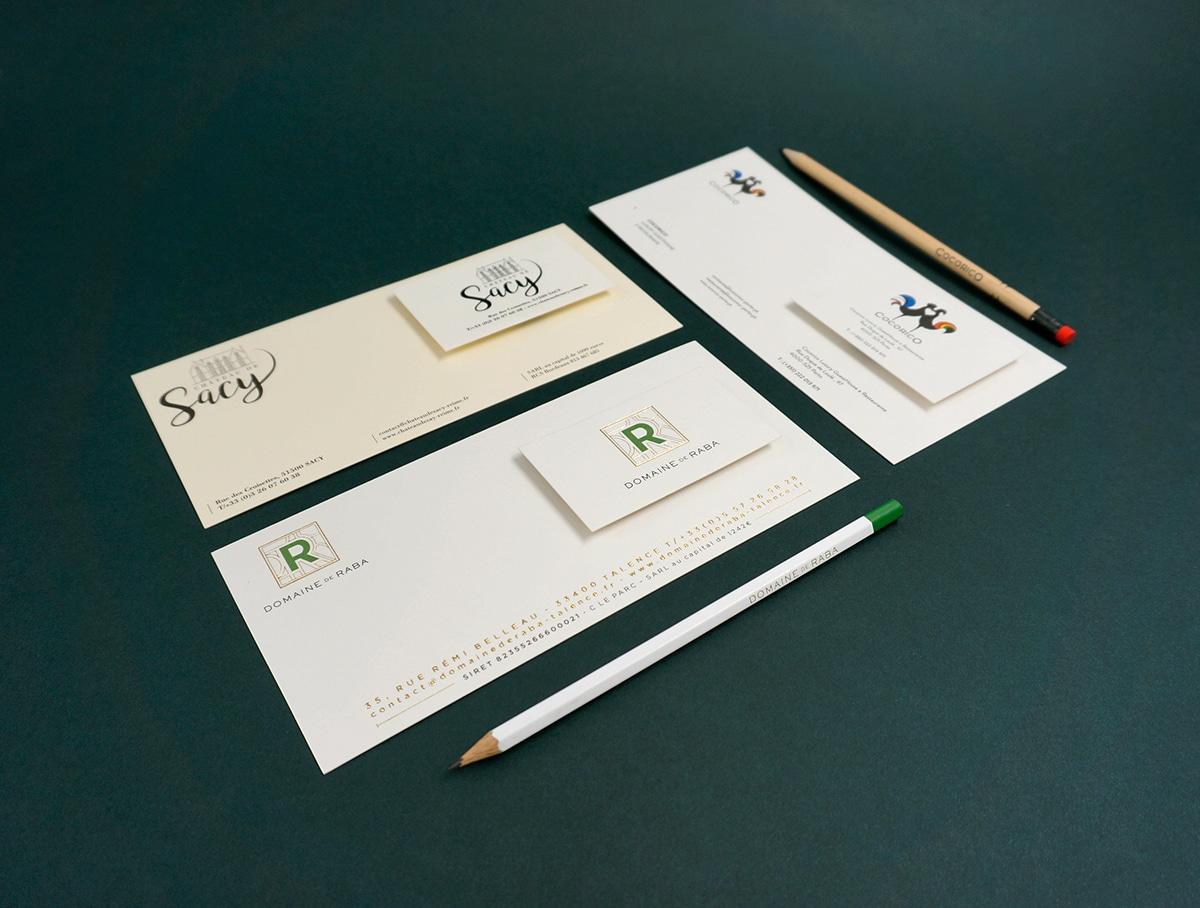 Millésime – carte de correspondance – carte de visite – crayons – studio octopus