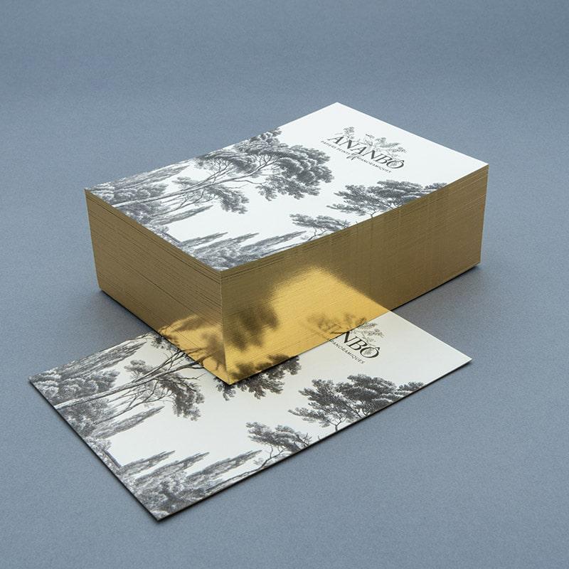 ananbo, cartes, communication, papier peint, dorure, or, enveloppes