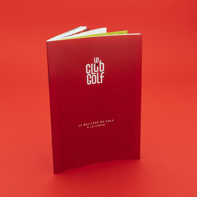le club golf, golf, brochure, catalogue, plv, anti-rayure