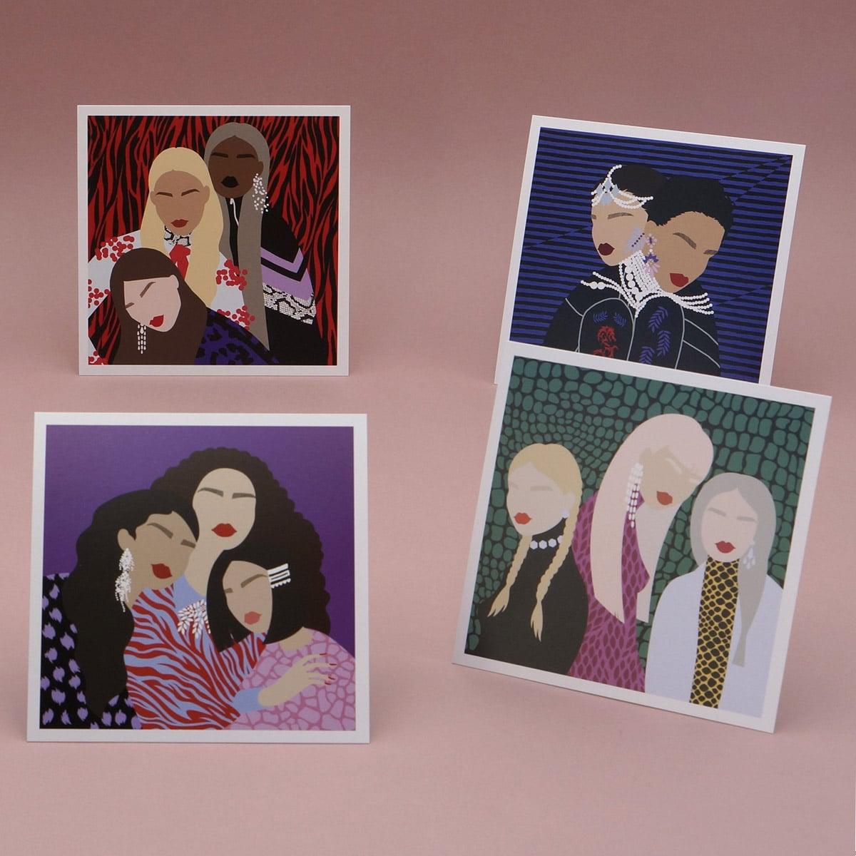 lesourcil, beauté, esthétique, cartes postales, impression